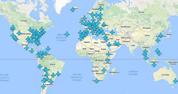 Every Aiports Wifi Password Around the World on a Single Map
