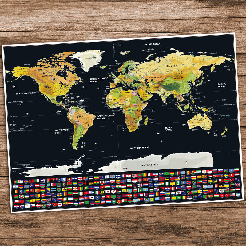 20 great gift ideas for travellers besides actual plane tickets scratch off world map gumiabroncs Image collections